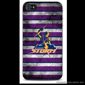 NRL Licensed Melbourne Storm Grunge Back Case for iPhone 4/4S