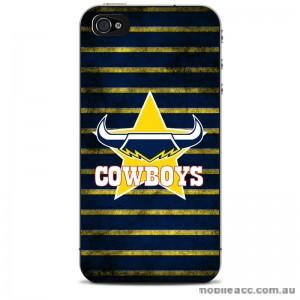NRL Licensed North Queensland Cowboys Grunge Back Case for iPhone 5/5S