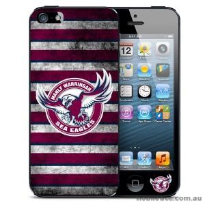 NRL Licensed Manly Warringah Sea Eagles Grunge Back Case for iPhone 5/5S