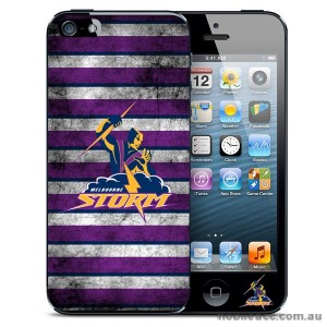 NRL Licensed Melbourne Storm Grunge Back Case for iPhone 5/5S