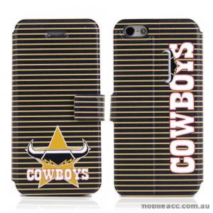 NRL Licensed North Queensland Cowboys Wallet Case for iPhone 5/5S