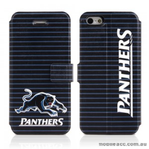 NRL Licensed Penrith Panthers PU Leather Wallet for iPhone 5/5S