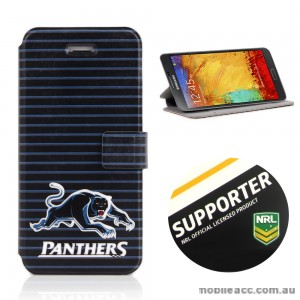 NRL Licensed Penrith Panthers Wallet Case for Samsung Galaxy Note 3