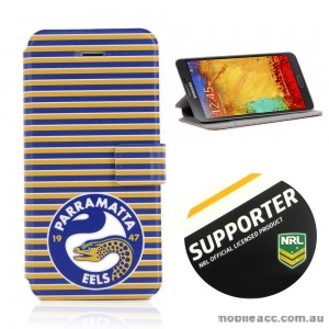 NRL Licensed Parramata Eels Wallet Case for Samsung Galaxy Note 3