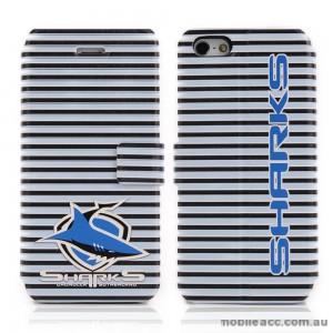 NRL Licensed Cronulla Sutherland Sharks Wallet Case for iPhone 4/4S