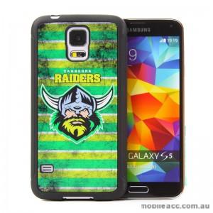 Licensed NRL Canberra Raiders Back Case for Samsung Galaxy S5 - Grunge