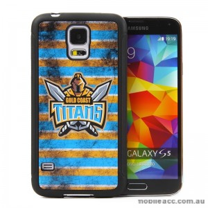 Licensed NRL Gold Coast Titans Back Case for Samsung Galaxy S5 - Grunge
