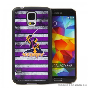 Licensed NRL Melbourne Storm Back Case for Samsung Galaxy S5 - Grunge