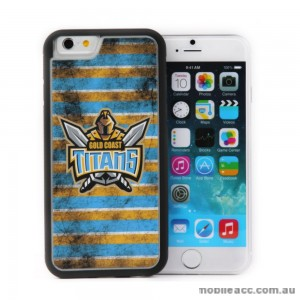 Licensed NRL Gold Coast Titans Back Case for iPhone 6/6S - Grunge
