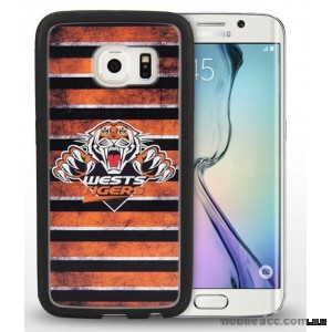 Licensed NRL West Tigers Grunge Jersey TPU 3D Case for Samsung Galaxy S6 Edge