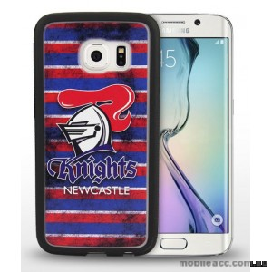 Licensed NRL Newcastle Knights Grunge Jersey TPU 3D Case for Samsung Galaxy S6 Edge