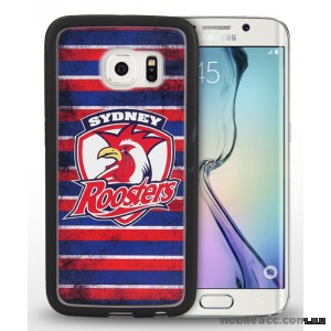 Licensed NRL Sydney Roosters Grunge Jersey TPU 3D Case for Samsung Galaxy S6 Edge