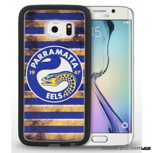Licensed NRL Parramatta Eels Grunge Jersey TPU 3D Case for Samsung Galaxy S6 Edge