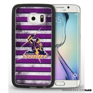 Licensed NRL Melbourn Storms Grunge Jersey TPU 3D Case for Samsung Galaxy S6 Edge
