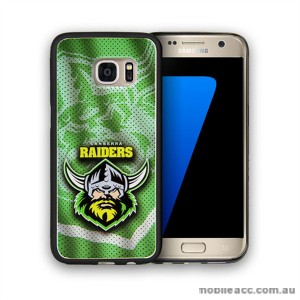 Licensed NRL Canberra Raiders Grunge Jersey TPU PC 3D Case for Samsung Galaxy S7 Edge