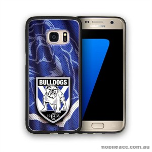 Licensed NRL Canterbury Bulldogs Grunge Jersey TPU PC 3D Case for Samsung Galaxy S7 Edge