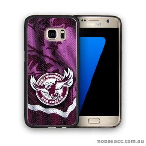 Licensed NRL Manly Sea Eagles Grunge Jersey TPU PC 3D Case for Samsung Galaxy S7 Edge