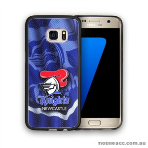 Licensed NRL Newcastle Knights Grunge Jersey TPU PC 3D Case for Samsung Galaxy S7 Edge