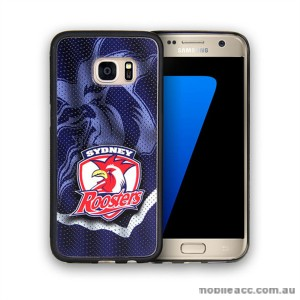Licensed NRL Sydney Roosters Grunge Jersey TPU PC 3D Case for Samsung Galaxy S7 Edge