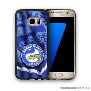 Licensed NRL Parramatta Eels Grunge Jersey TPU PC 3D Case for Samsung Galaxy S7 Edge