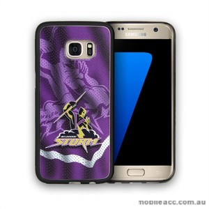 Licensed NRL Melbourne Storm Grunge Jersey TPU PC 3D Case for Samsung Galaxy S7 Edge