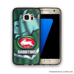 Licensed NRL South Sydney Rabbitohs Grunge Jersey TPU PC 3D Case for Samsung Galaxy S7 Edge