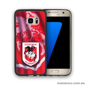 Licensed NRL St. George Dragons Grunge Jersey TPU PC 3D Case for Samsung Galaxy S7 Edge