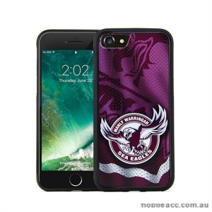 Licensed NRL Manly Sea Eagles Grunge Jersey TPU PC 3D Case For iPhone 7 Plus
