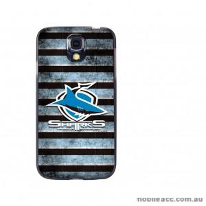 NRL Licensed Cronulla Sutherland Sharks Grunge Back Case for Samsung Galaxy S4