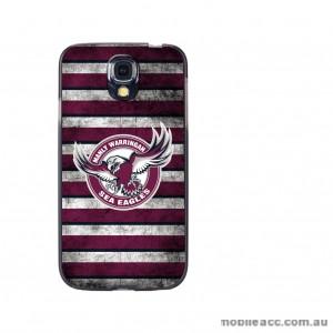 NRL Licensed Manly Warringah Sea Eagles Grunge Back Case for Samsung Galaxy S4
