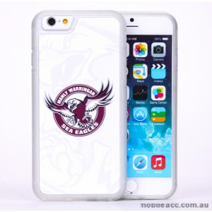 Licensed NRL Manly Warringah Sea Eagles Case for iPhone 6/6S - White