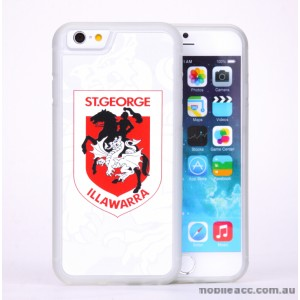 Licensed NRL St. George Illawarra Dragons Case for iPhone 6/6S - White