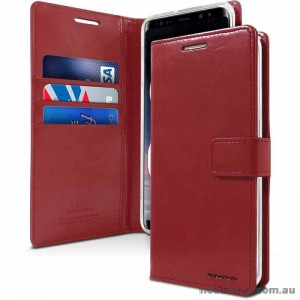 Bluemoon Diary Wallet Case For Samsung A71 6.7 inch  A715  Wine