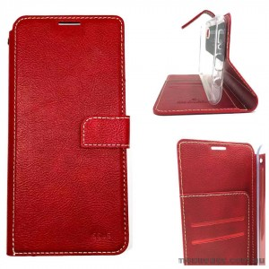 Molancano ISSUE Diary Wallet Case For Samsung Note 10  Red