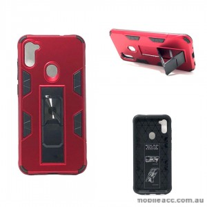 Anti Shockproof Heavy Duty With Stand With Magnet Case For Samsung A11  Red