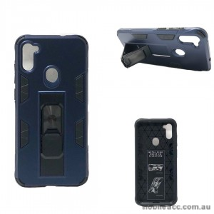 Anti Shockproof Heavy Duty With Stand With Magnet Case For Samsung A11  Navy Blue