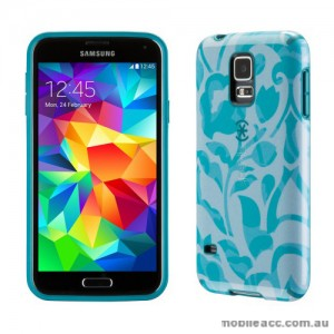 Genuine Speck CandyShell Inked Samsung Galaxy S5 Case - WallFlowers Blue