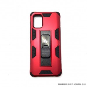 Anti Shockproof Heavy Duty With Stand With Magnet Case For Samsung  S20 FE 5G  Red