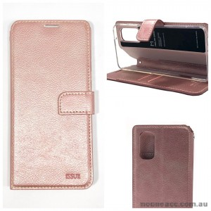 Molancano ISSUE Diary Wallet Case For Samsung S20 FE 5G  Rose Gold