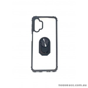 Anti Shockproof Heavy Duty With Stand With Magnet Case For Samsung A12  Clear