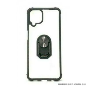 Anti Shockproof Heavy Duty With Stand With Magnet Case For Samsung A42 5G  Clear