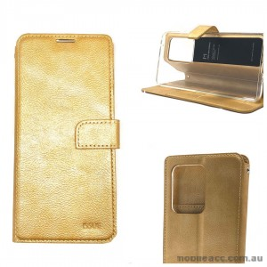 Genuine Molancano ISSUE Diary Stand Wallet Case For Samsung S20 Ultra 6.9 inch  Gold