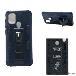 Anti Shockproof Heavy Duty With Stand With Magnet Case For Samsung A21S  Navy Blue