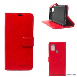 Mooncase Diary Wallet Case For Samsung A21S  Red