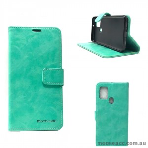 Mooncase Diary Wallet Case For Samsung A21S Mint Green