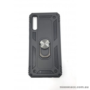 Anti Shock with Magnet Stand case for Samsung  A70  BLK