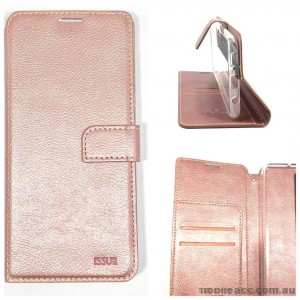 Molancano ISSUE Diary Wallet Case For Samsung A70  Rose Gold