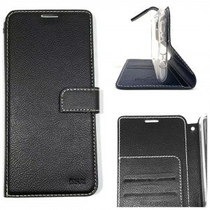 Molancano ISSUE Diary Wallet Case For Samsung A50  BLK