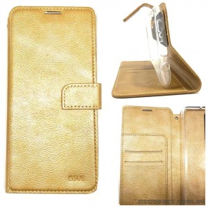 Molancano ISSUE Diary Wallet Case For Samsung A50  Gold