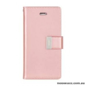 Genuine Goospery Rich Diary Stand Wallet Case Cover For Samsung S10 5G  Rose Gold